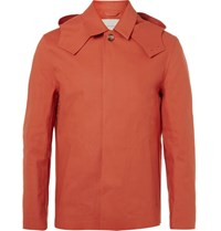 Mackintosh Waterproof Bonded Cotton Hooded Raincoat Red