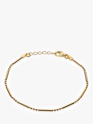 Daisy London Stacked Bead And Bar Chain Bracelet Gold
