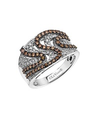 Levian 14K Vanilla Gold And Chocolate Diamond Ring White Gold