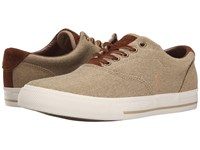Polo Ralph Lauren Vaughn Tan Vintage Burlap Sport Suede Men's Lace Up Casual Shoes Khaki