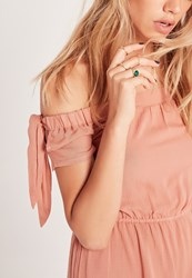 Missguided Stone Detail Four Ring Pack Gold Gold