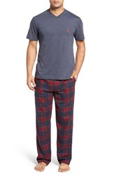 Majestic International Men's T Shirt And Lounge Pants Navy Heather