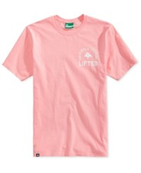 Lrg Men's Inspired Graphic Print Cotton T Shirt Light Pink
