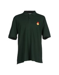 Ami Alexandre Mattiussi Ami Paris Topwear Polo Shirts Men Dark Green