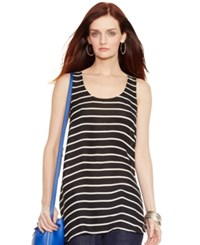 Polo Ralph Lauren Striped Silk Racerback Tank