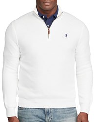 Polo Ralph Lauren Pima Cotton Half Zip Pullover White