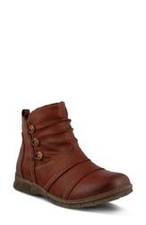 Spring Step Anatol Bootie Bordeaux Faux Leather