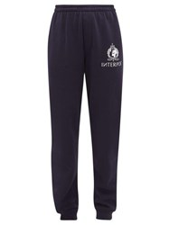 Vetements Interpol Print Cotton Blend Jersey Track Pants Navy