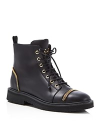 Giuseppe Zanotti Hilary Zipper Embellished Boots Black
