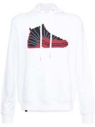 Mostly Heard Rarely Seen Hi Top Sneaker Hoodie Cotton Xl White