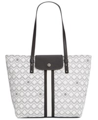 Giani Bernini Graphic Signature Tote Only At Macy's White Black