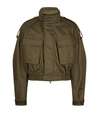 Juun.J Juun J Cropped Military Jacket Male Khaki