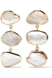 Melissa Joy Manning 14 Karat Gold And Sterling Silver Multi Stone Earrings One Size