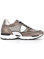 Philippe Model Lateral Patch Sneakers Brown