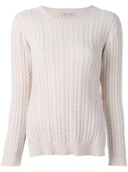 Anddaughter Cable Knit Jumper Pink Purple