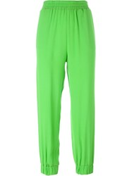 I'm Isola Marras Gathered Ankle Trousers Green