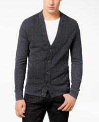 Inc International Concepts Men's Acid Wash Cardigan Created For Macy's Deep Black