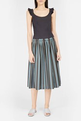 Brock Collection Women S Sibylle Striped Skirt Boutique1 Blue