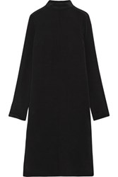 Tibi Tie Back Silk Dress Black