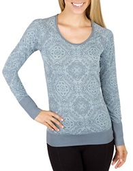 Jockey Patterned Active Top Dreamy Blue