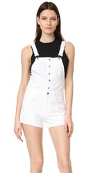 Rag And Bone Jean Lou Overall Shorts White