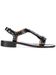 Church's Fringed Sandals Women Leather 40 Black