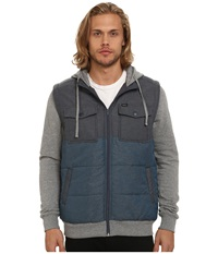 Rvca Puffer Wayward Jacket Midnight Men's Coat Navy