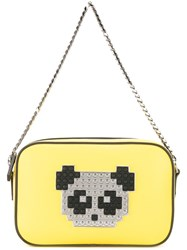 Les Petits Joueurs Roy Metal Panda Crossbody Bag Yellow Orange