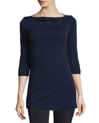 Escada 3 4 Sleeve Bateau Neck Tunic Imperial