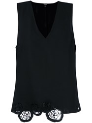 Versus Embroidered Detail Tank Top Black