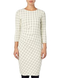 Phase Eight Cynthia Check Dress White Black