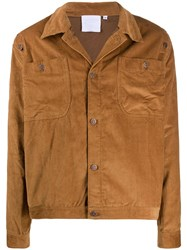 Telfar Corduroy Buttoned Jacket Brown