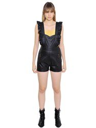 Philosophy Di Lorenzo Serafini Ruffled Leather Romper