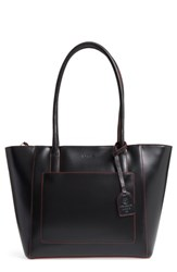Lodis Medium Margaret Leather Tote With Zip Pouch Black