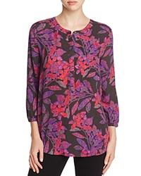 Nydj Vivid Orchid Pleated Back Blouse Eastern Garden Vivid Orchid