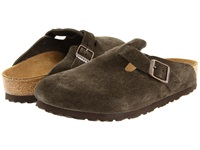 Birkenstock Boston Suede Unisex Mocha Suede Clog Shoes Brown
