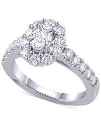 Marchesa Diamond Halo Engagement Ring 2 Ct. T.W. In 14K White Gold
