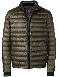 Woolrich Quilted High Neck Jacket Green