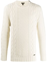 Belstaff Cable Knit Jumper White