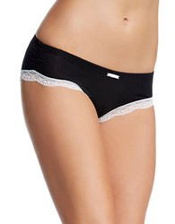 Felina Lace Trimmed Hipsters Black