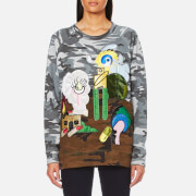 Marc Jacobs Women's Raglan Sweatshirt Camo Julie Grey
