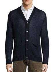 Polo Ralph Lauren Linen V Neck Cardigan Ink Blue
