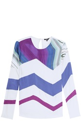 Raoul Chevron Blouse Multi