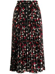 Red Valentino Arrow Print Skirt Black