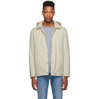 Herno White Packable Coaches Jacket