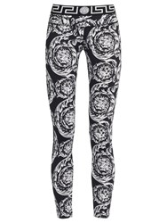 Versace Baroque Print Performance Leggings Black Print