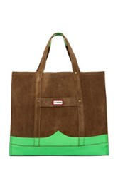 Hunter Original Suede Mustache Weekend Bag Beige