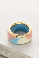 Anthropologie Porcellana Ring Peach