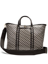 Pierre Hardy Polycube Coated Canvas Tote Black White
