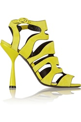 Pierre Hardy Cutout Suede Ankle Boots Yellow